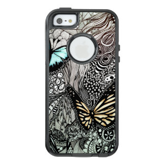 Butterflies with Black and White Design OtterBox iPhone 5/5s/SE Case