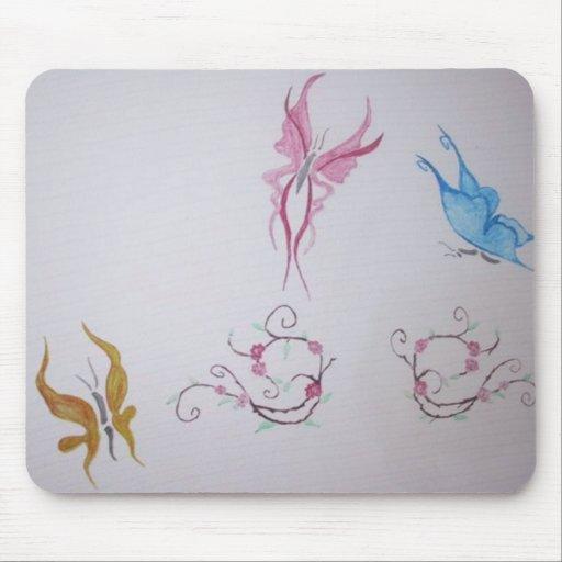 Butterflies with colour mousepad