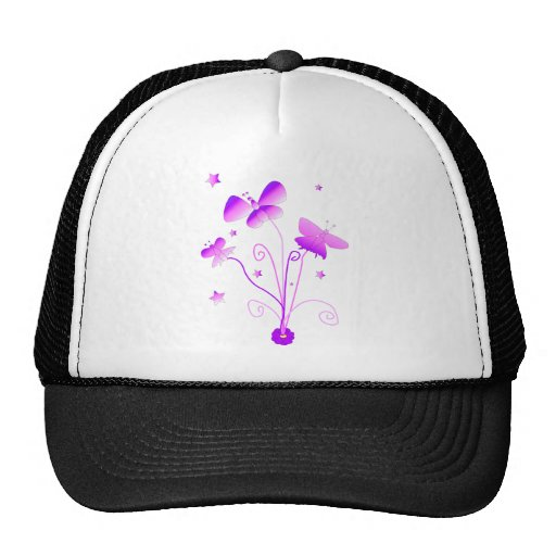 Butterflies with Flower Hat