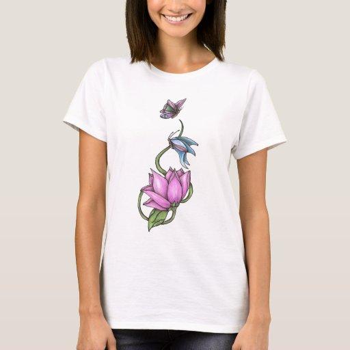 Butterflies with Flower T-Shirt