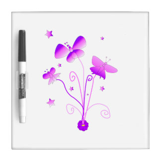 Butterflies with Flowers Dry Erase Boards