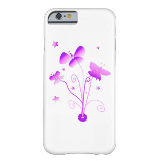 Butterflies with Flowers in Pink and Purle Barely There iPhone 6 Case