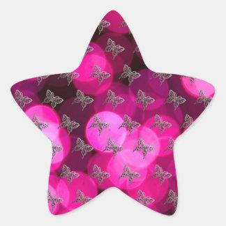 Butterflies with light Bakcground Star Sticker