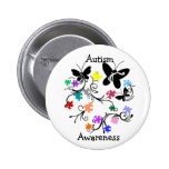 Butterflies with puzzle pieces button
