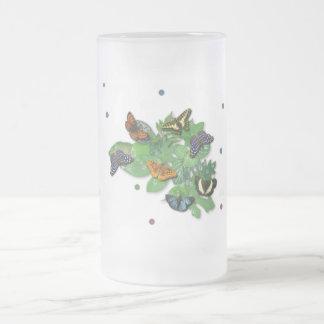 Butterflies with sheets, rain drop, beads coffee mug