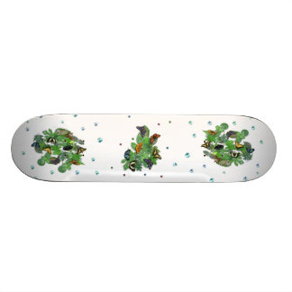 Butterflies with sheets, rain drop, beads skateboard deck