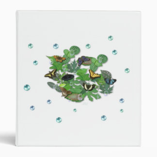 Butterflies with sheets, rain drop, pearls binder