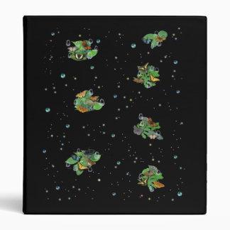Butterflies with sheets, rain drop, pearls, stars binder
