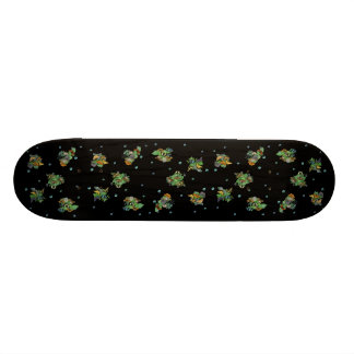 Butterflies with sheets, rain drop, stars skateboard deck