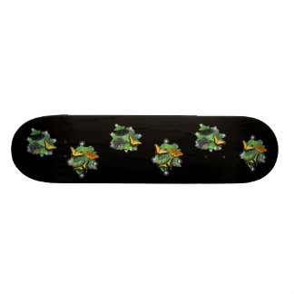 Butterflies with sheets, rain drops skateboard deck