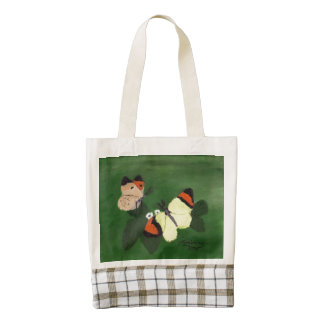 Butterflies with Strawberry Blossom Zazzle HEART Tote Bag