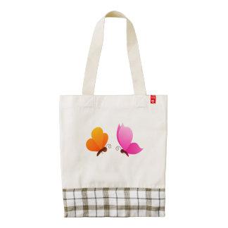 Butterflies Zazzle HEART Tote Bag