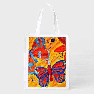 Butterflies Grocery Bag