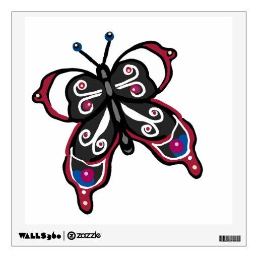 Butterfliy negro y rojo