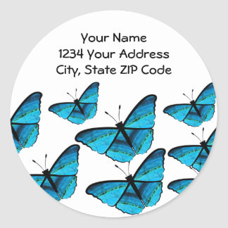 Butterflly Address Lables Classic Round Sticker