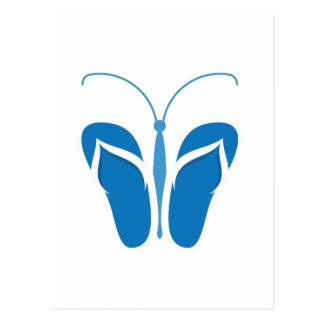 Butterflops Blue2 Postcard