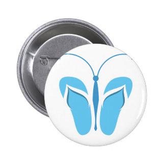 Butterflops Blue3 Pinback Button