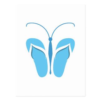 Butterflops Blue3 Postcard