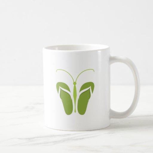 Butterflops Green 2 Classic White Coffee Mug