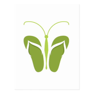 Butterflops Green 2 Postcard