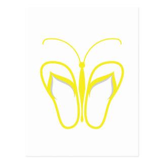 Butterflops Yellow 1 Postcard