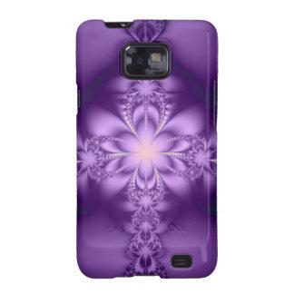 Butterflower púrpura galaxy s2 fundas