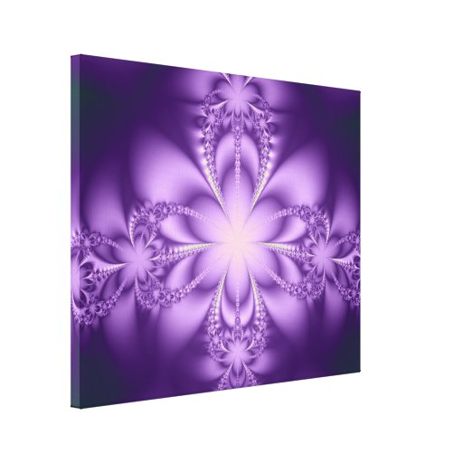 Butterflower púrpura impresiones en lona