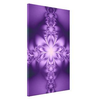 Butterflower púrpura impresión en lona