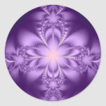 Butterflower púrpura pegatinas redondas