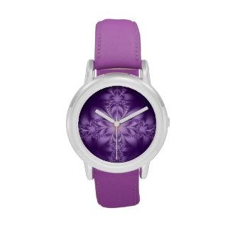 Butterflower púrpura relojes