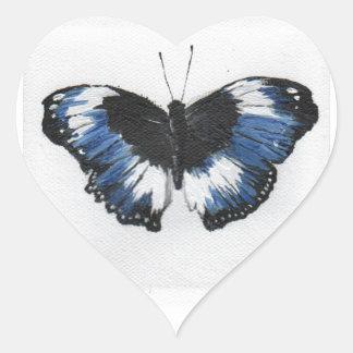 Butterfly11 Pegatina En Forma De Corazón