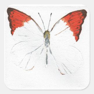 Butterfly12 Pegatina Cuadrada