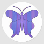 Butterfly2F1 Pegatina Redonda