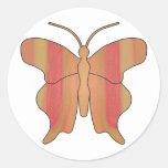 Butterfly2F2 Pegatina Redonda