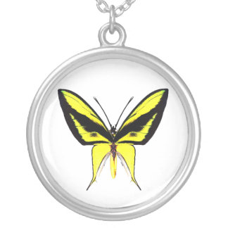 butterfly3 round pendant necklace