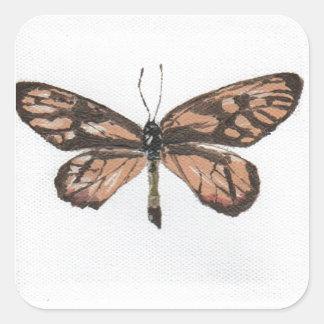 Butterfly6 Pegatina Cuadrada