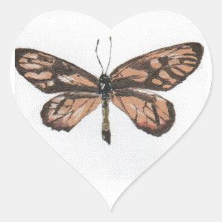 Butterfly6 Pegatina En Forma De Corazón