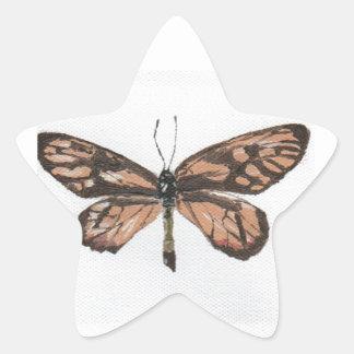 Butterfly6 Pegatina En Forma De Estrella
