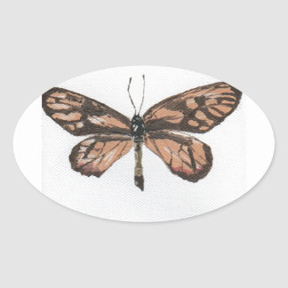 Butterfly6 Pegatina Ovalada