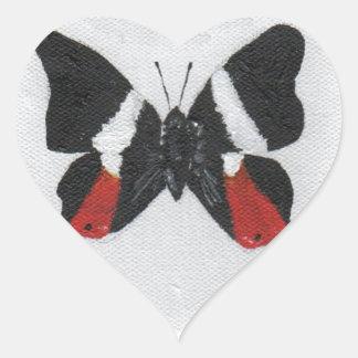 Butterfly9 Pegatina En Forma De Corazón