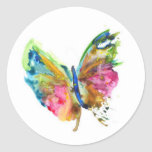 Butterfly 1 classic round sticker