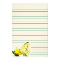 Butterfly 1 lined stationery