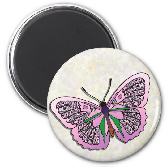 Butterfly - 27 2 inch round magnet