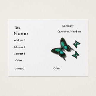 Butterfly 2 business card