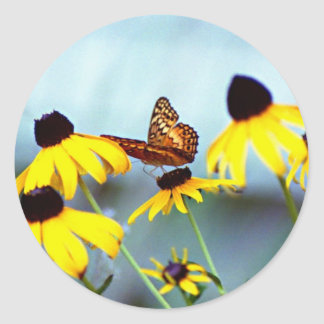 butterfly 2 classic round sticker