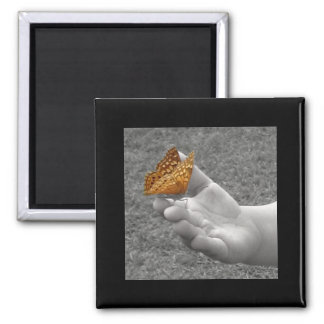 Butterfly 2 Inch Square Magnet