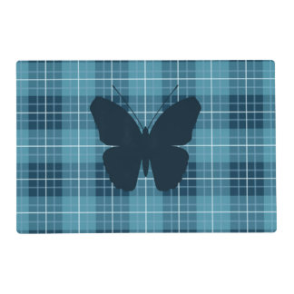 Butterfly (2Way) on Plaid Blues Placemat