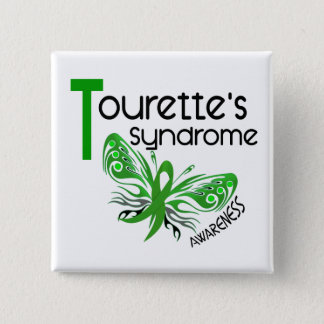 Butterfly 3.1 Tourette's Syndrome Pinback Button