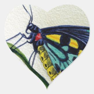 Butterfly 3, Garden, Watercolor Painting, Art Heart Sticker