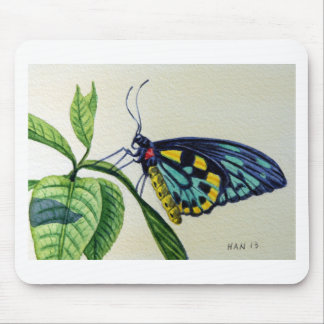 Butterfly 3, Garden, Watercolor Painting, Art Mouse Pad